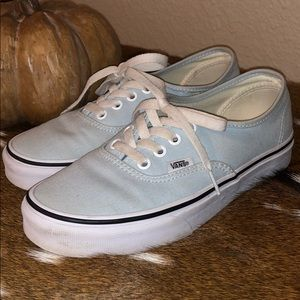 Vans authentic light blue shoes